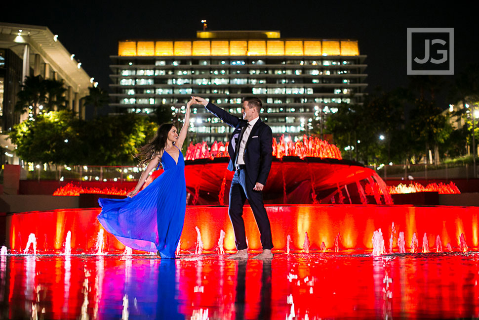 Downtown Los Angeles Engagement Photos, Concert Hall | Natina & Eli