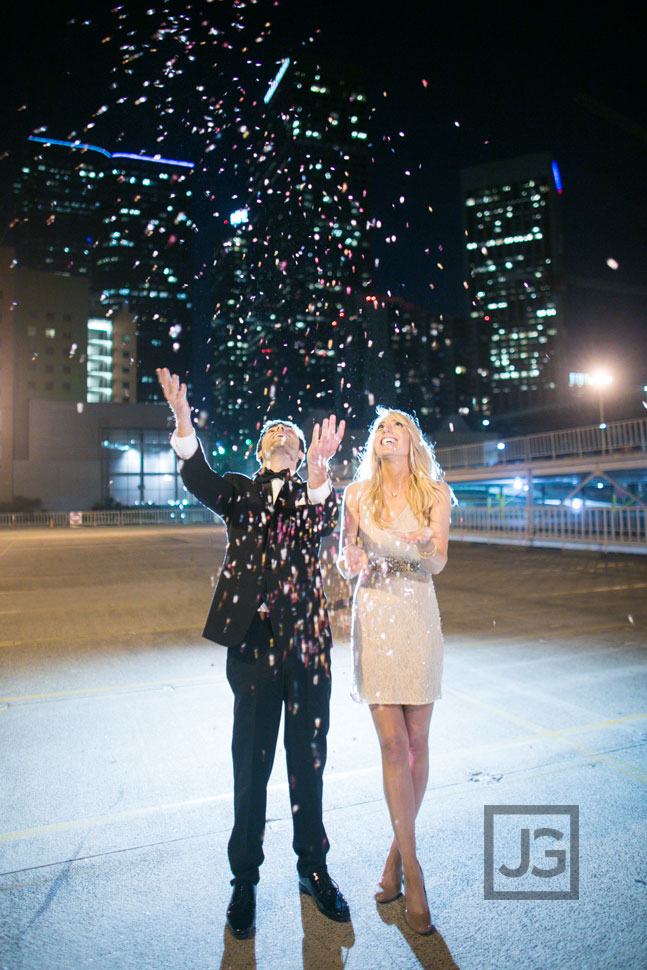 Confetti Engagement Photos Los Angeles