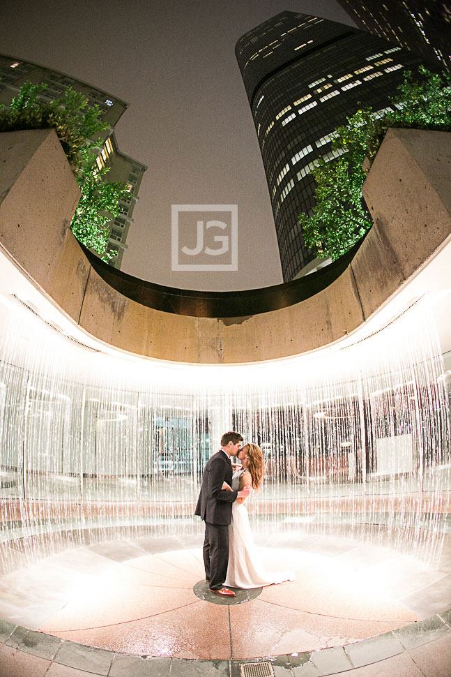 Water Fountain Engagement Photos