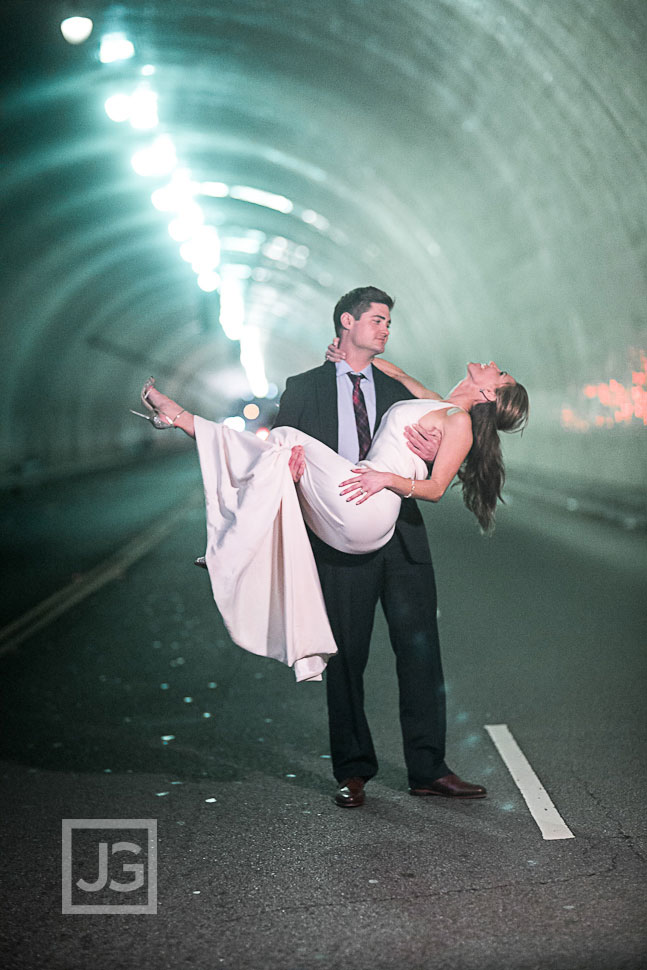 Downtown Los Angeles Wedding Photos Tunnel