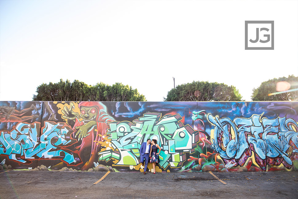 Graffiti engagement photo
