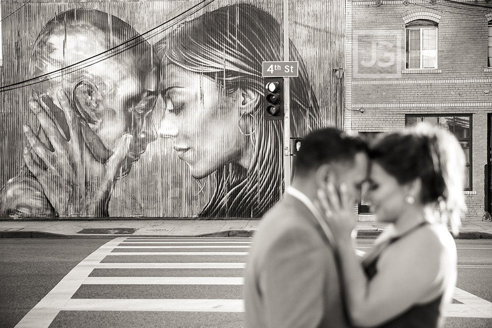 Graffiti Art, Downtown Los Angeles Engagement Photography | Karla + Omar