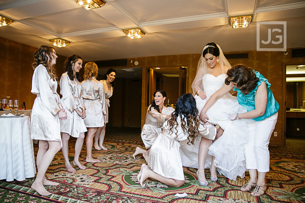 Fairmont Hotel Wedding Dress Preparation