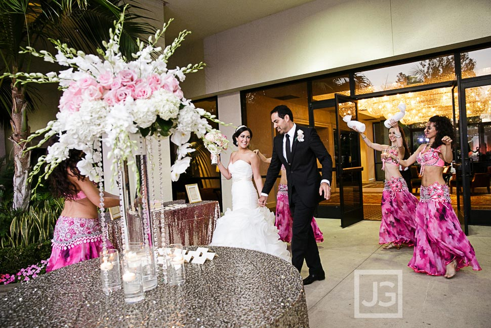 Fairmont Hotel Wedding Reception Grand Entrance