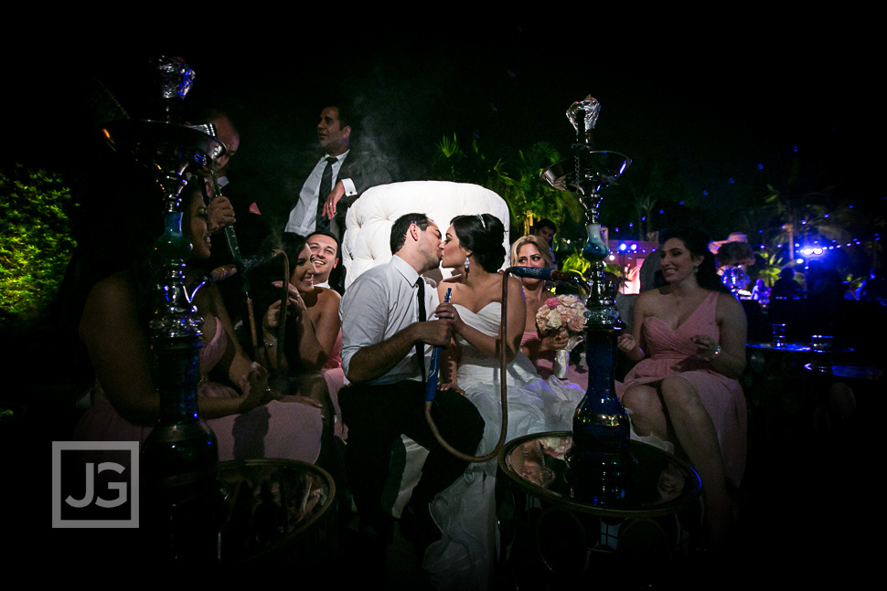 Fairmont Hotel Wedding Reception Persian Hookah
