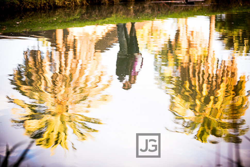 Maternity Photography Fullerton Arboretum Water Reflection