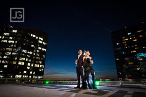 Santa Monica Airport Engagement Photography with Rooftop Helipad