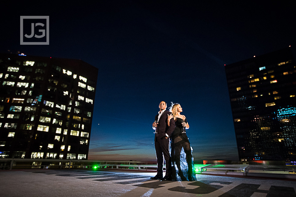 Helipad Rooftop Engagement Photo
