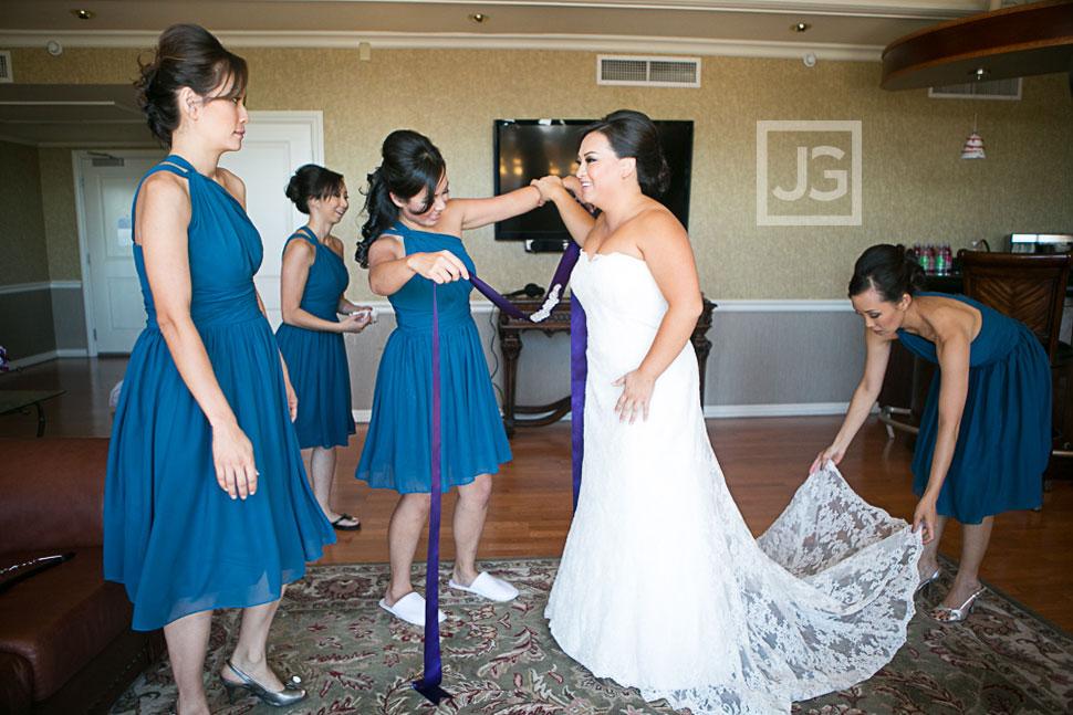 Wedding Preparation at the Hilton San Gabriel