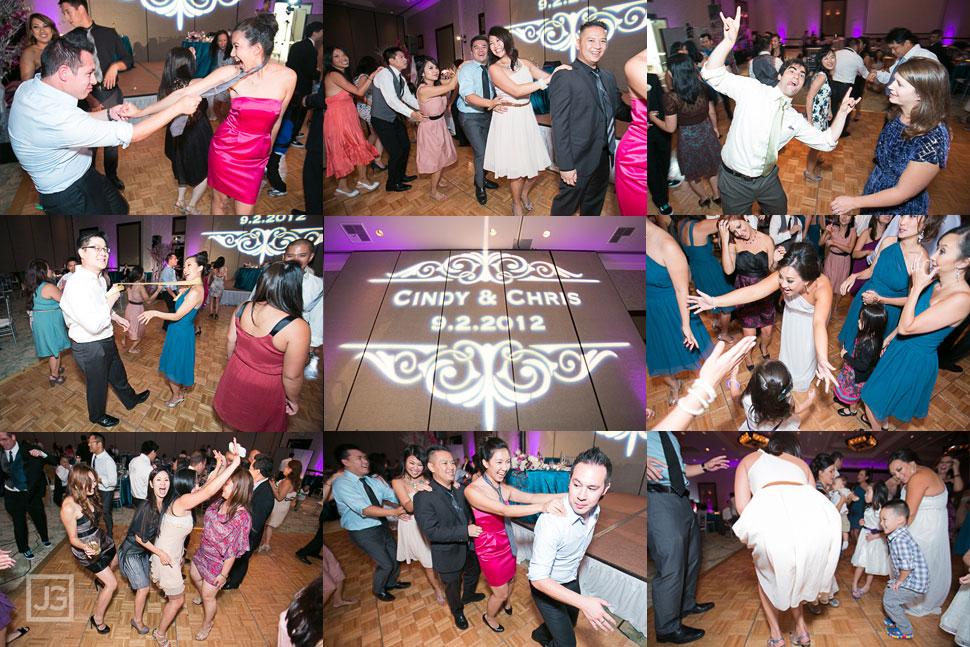 Wedding Reception at the Hilton San Gabriel Dancing