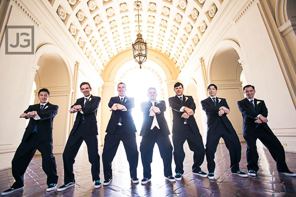 Wedding Party Photos at Pasadena City Hall