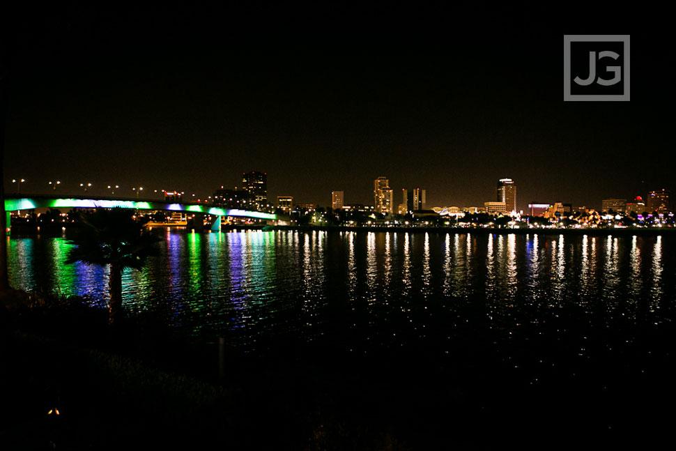 Long Beach Harbor at Night
