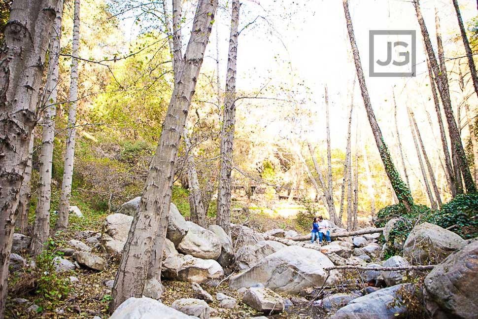 Big Santa Anita Creek Engagement Photography