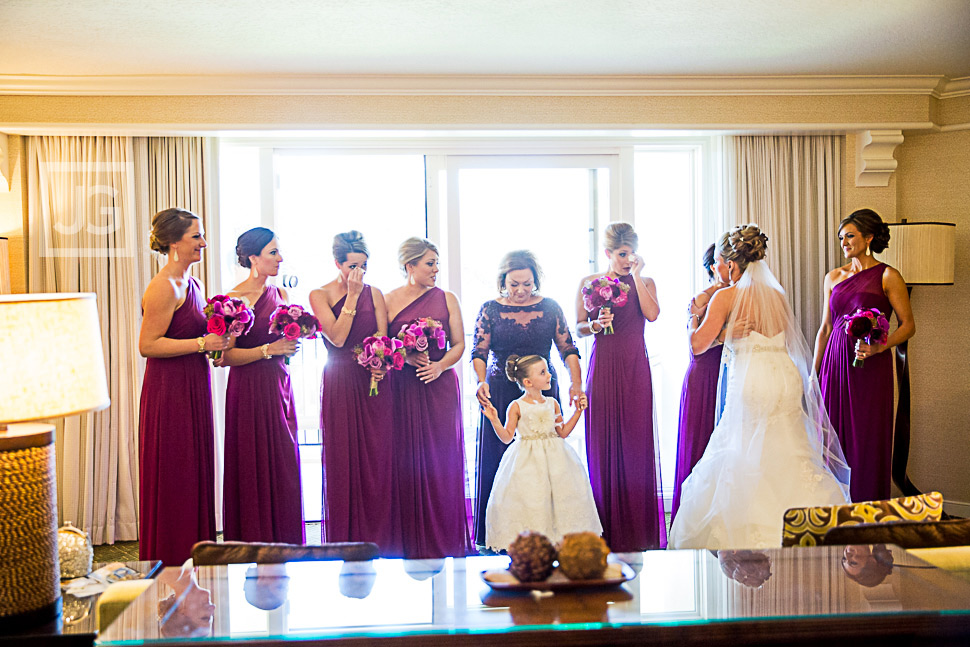 Bride with her Bridesmaids at the Hyatt