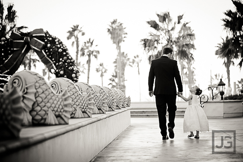 Groom with the Flower Girl