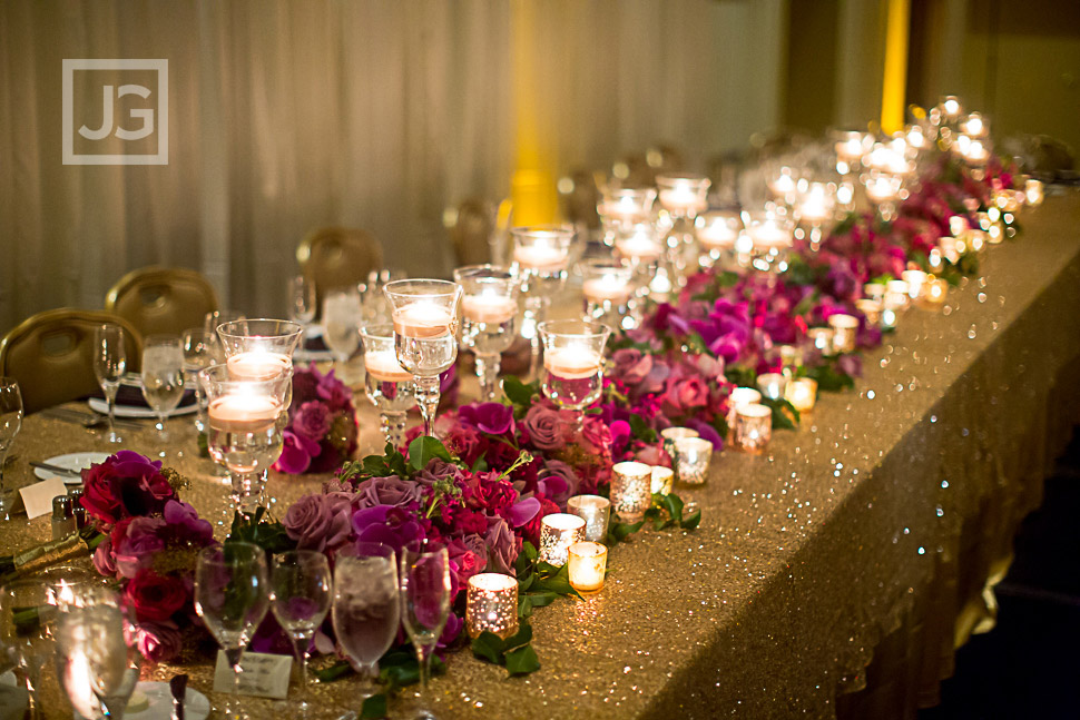 Huntington Hyatt Reception Decor