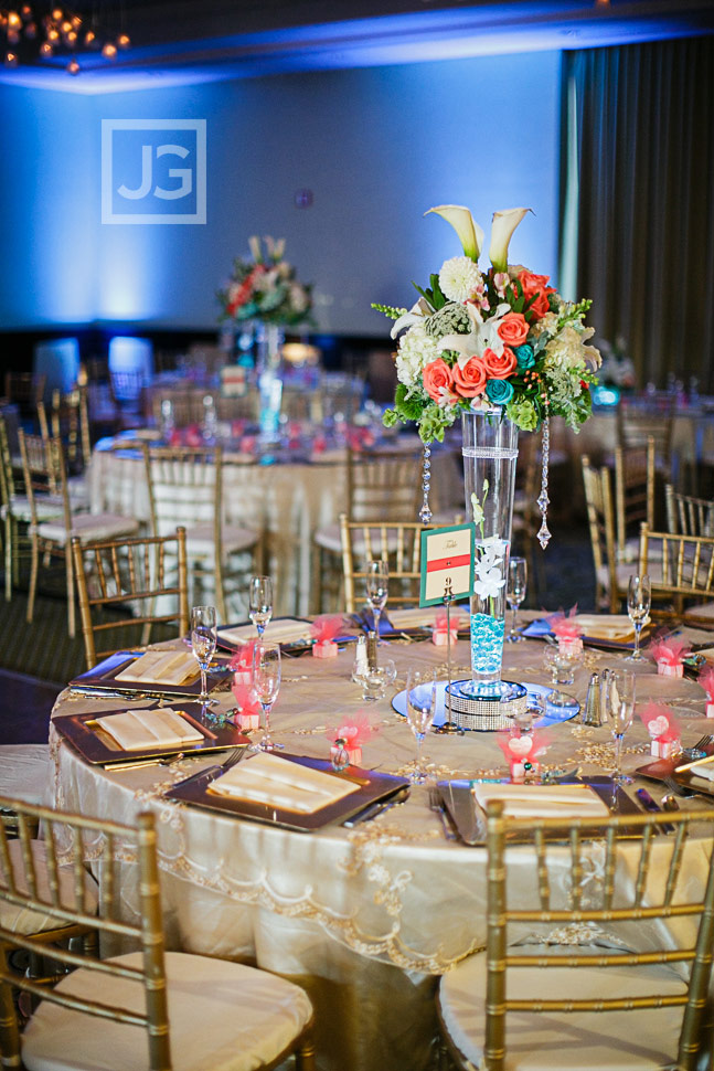 Pacific Palms Wedding Reception Table