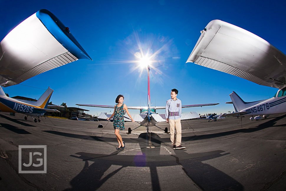Airport Engagement Photography, WDCH, Santa Monica | Janice and Kawai
