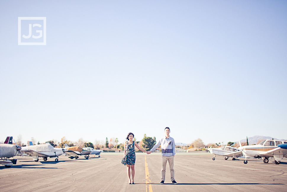 Airport Engagement Photography
