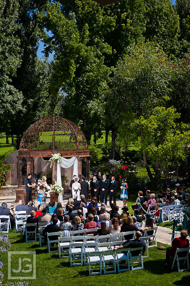 Tuscan Gardens Wedding Ceremony