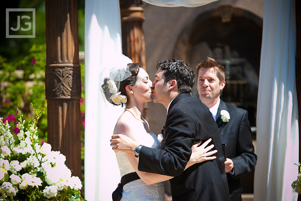 First Kiss at the Westlake Village Inn