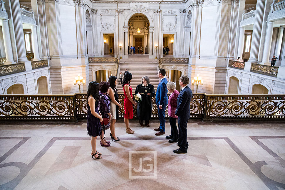 San Francisco Courthouse wedding ceremony