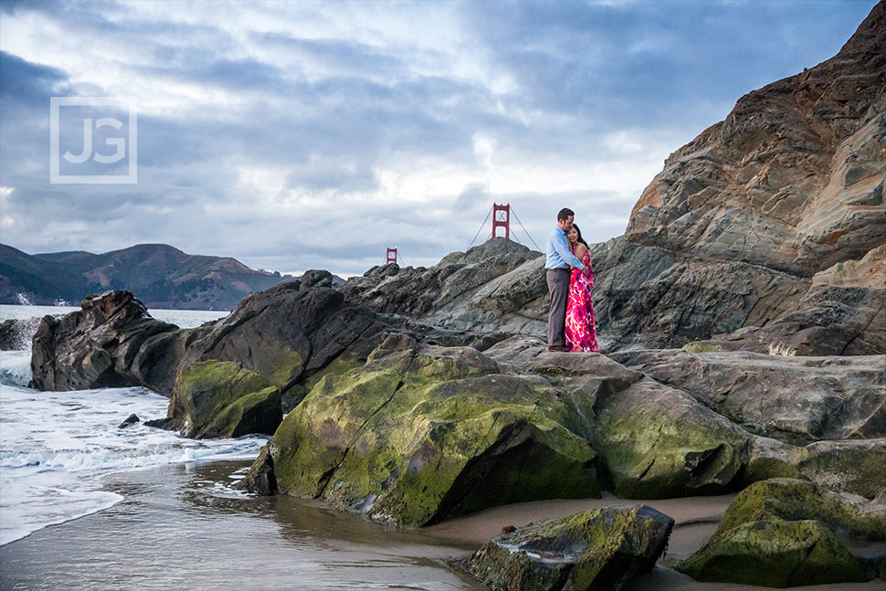 Engagement photography Baker Beach