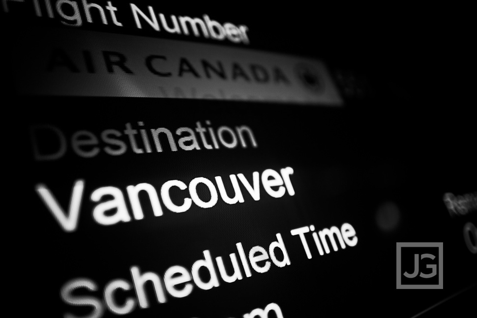 Flying to Vancouver