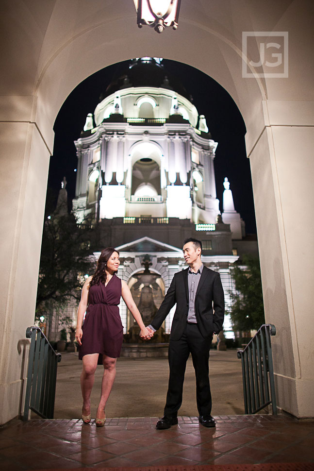Engagement Photography Pasadena City Hall