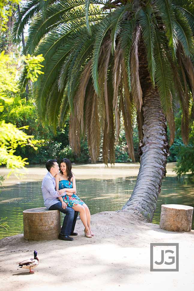 Engagement Photos Palm Tree Lakeside