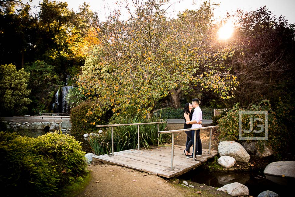 Los Angeles County Arboretum Engagement Photography