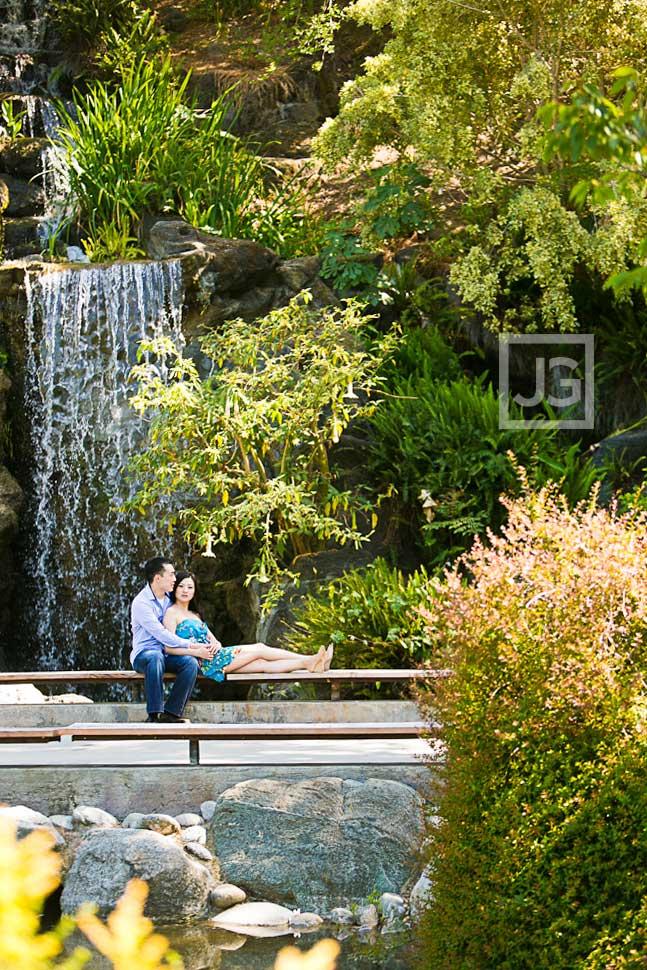Engagement Photos Arboretum Waterfall