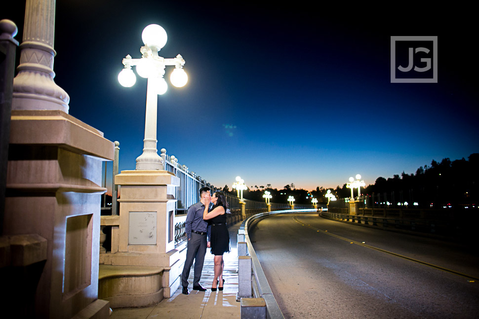 Suicide Bridge Engagement Photo in Pasadena