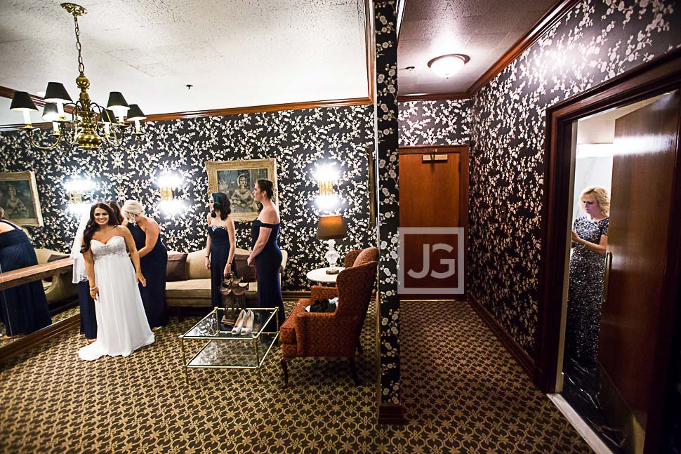 Bride getting ready at the Athletic Club
