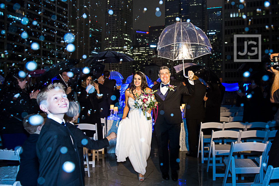 Wedding with a Snow Machine