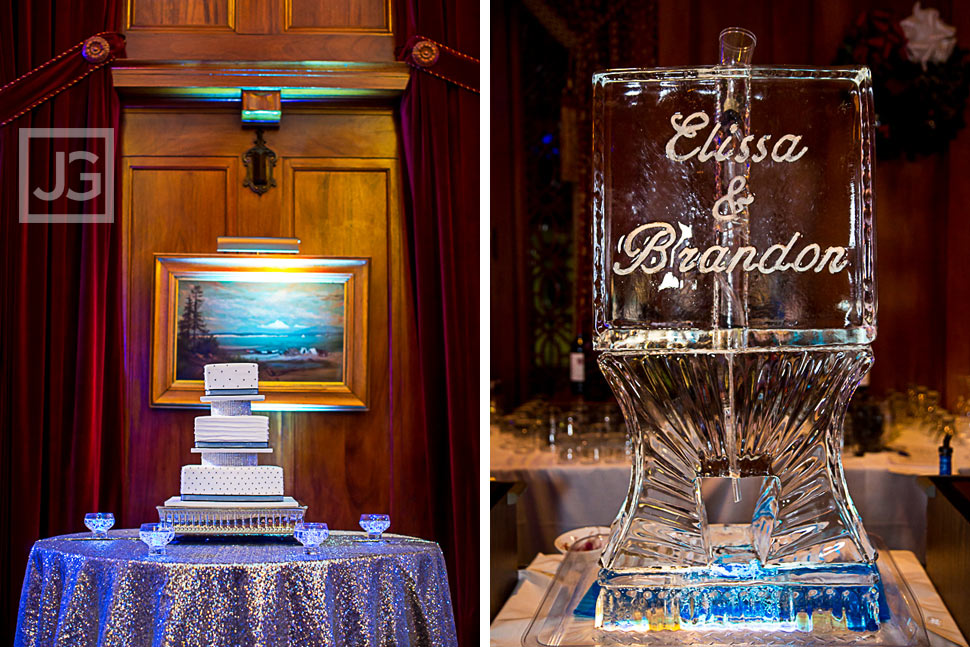Wedding Cake and Ice Sculpture