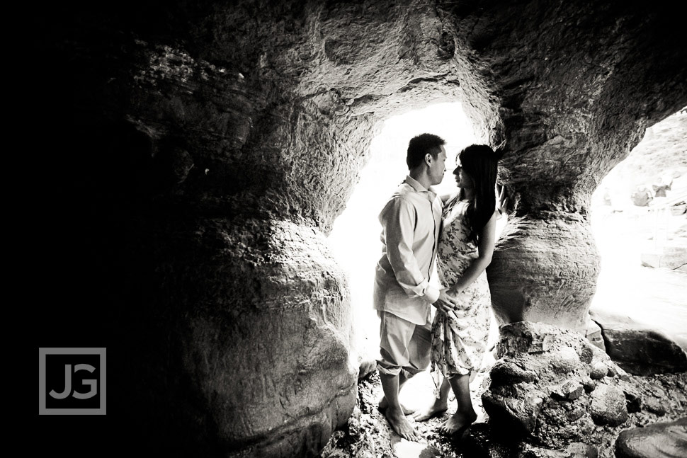 La Jolla Cave Engagement Photo