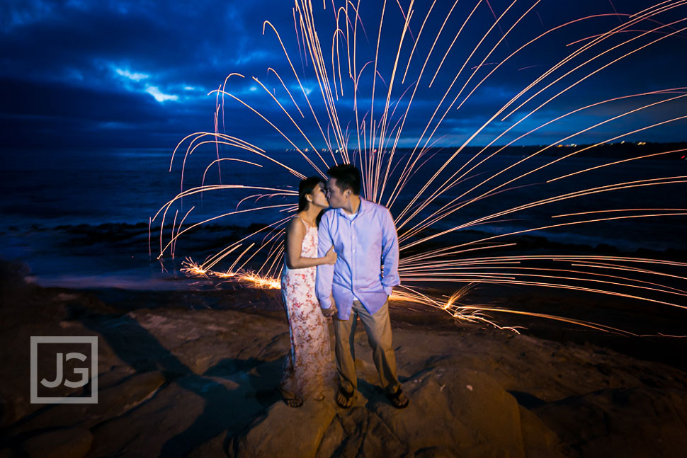 Steel Wool Engagement Photography