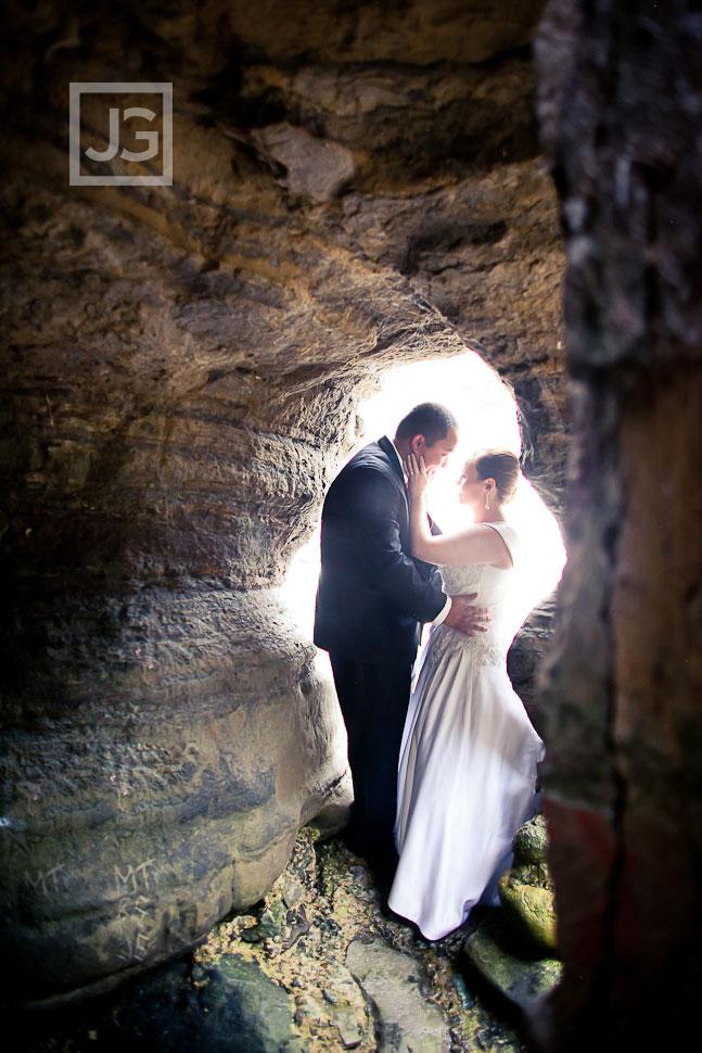 La Jolla Cove Wedding Photography Cave