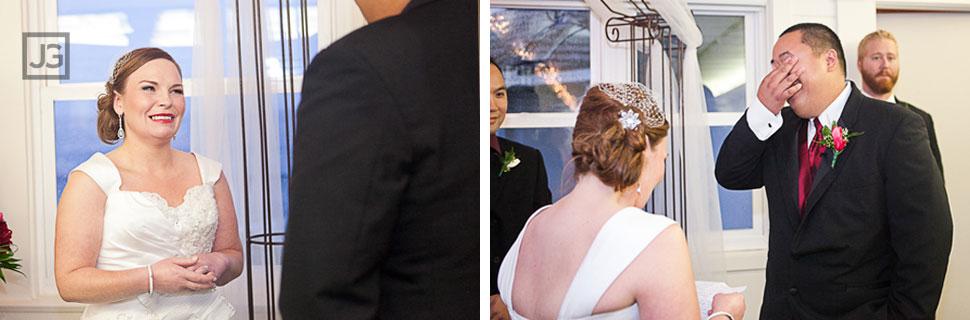 La Jolla Cove Bridge Club Indoor Wedding Ceremony