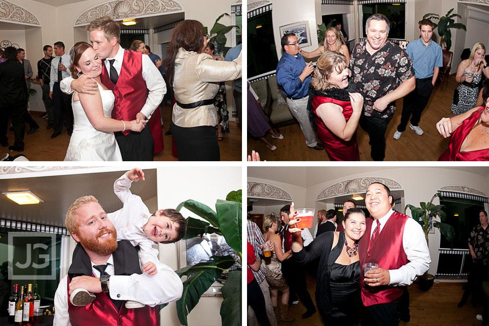 La Jolla Cove Bridge Club Wedding Reception Dancing