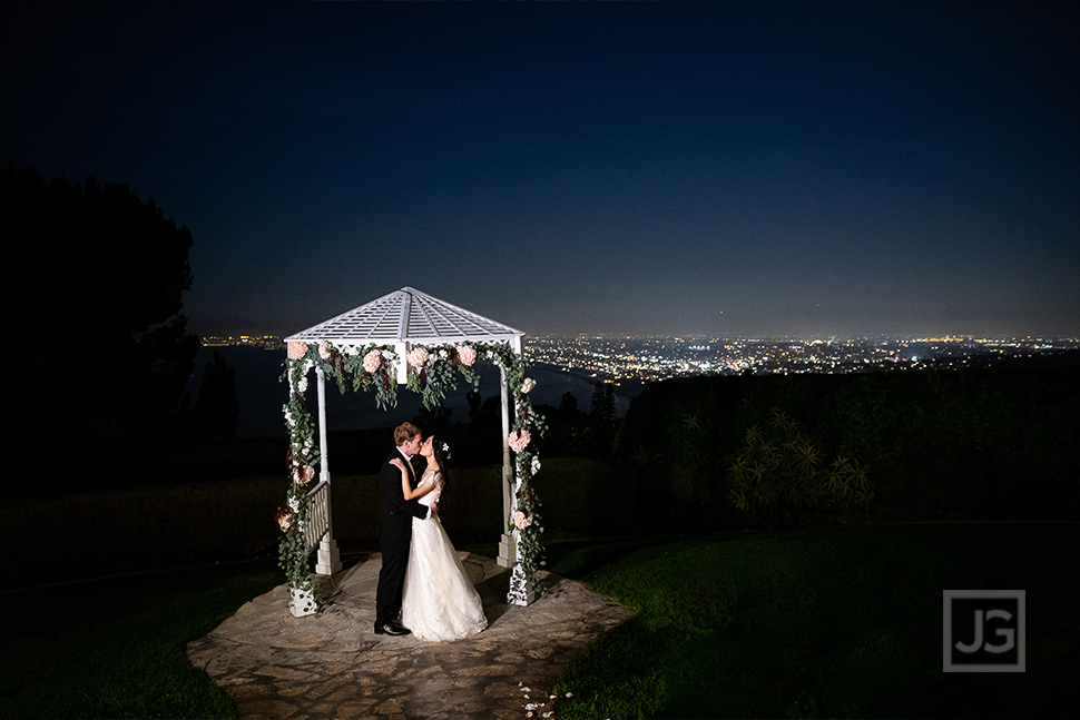 La Venta Inn view at night wedding photo
