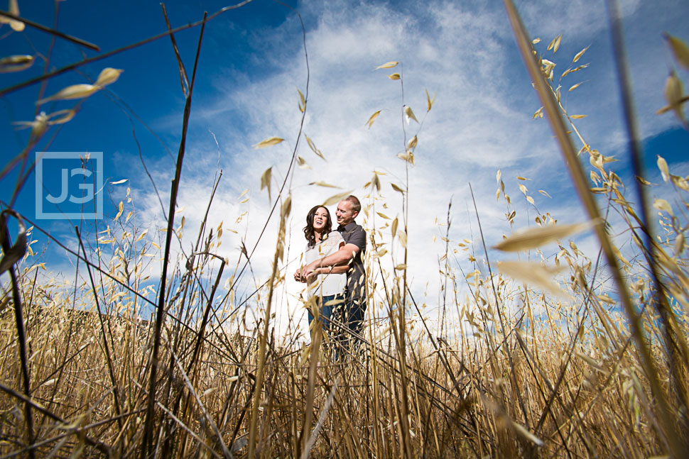 Irvine engagement photography Open Field