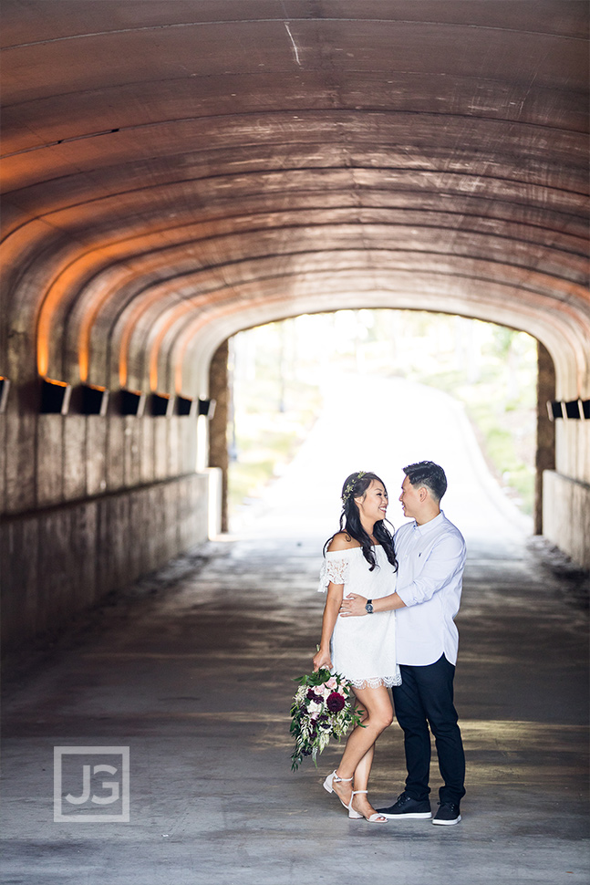 Tunnel Irvine engagement photography
