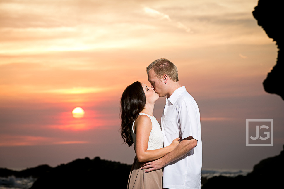Thousand Steps Engagement Photos Sunset