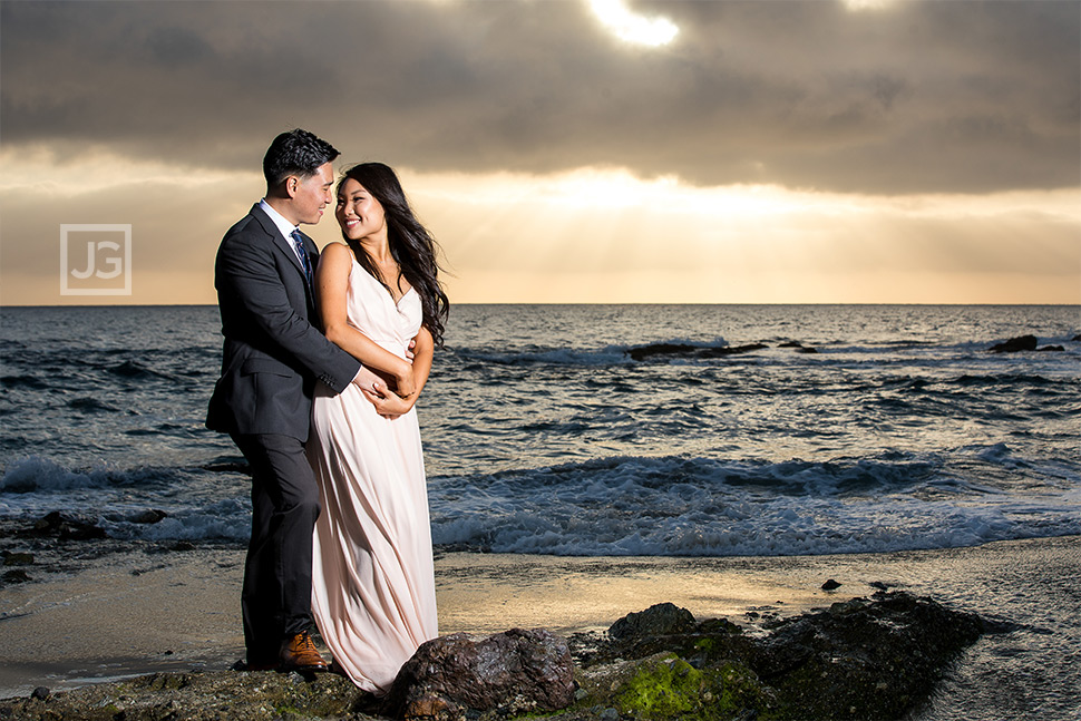 Sunset Laguna Beach engagement photography