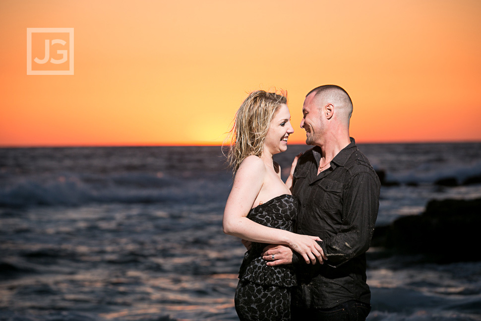 Laguna Beach Engagement Photos Sunset