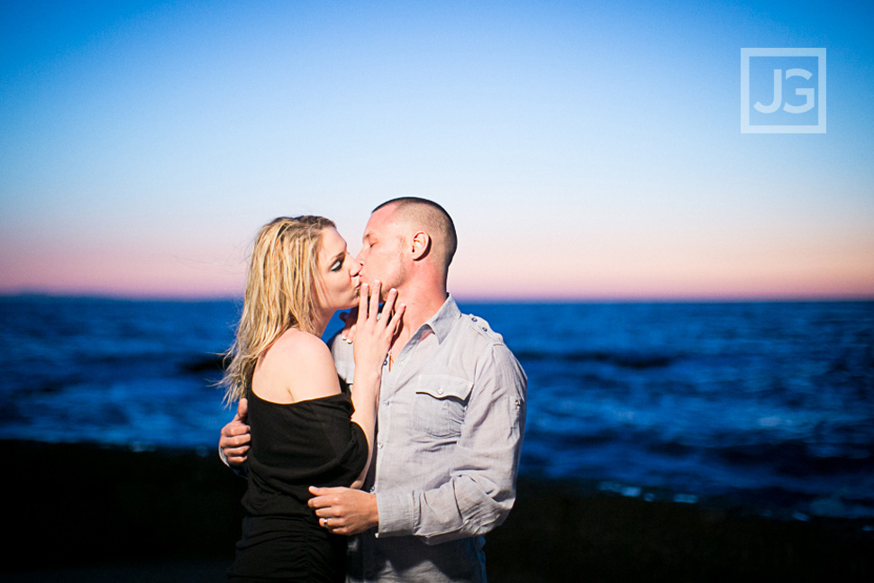 Laguna Beach Engagement Photos Kissing