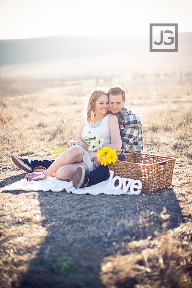 Orange County Engagement Photography Open Field