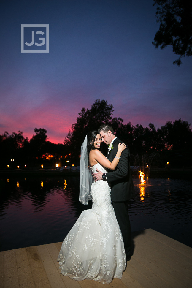 Lake Oak Meadows Sunset Wedding Photos